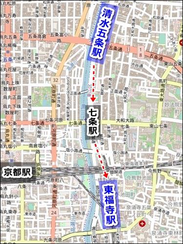 清水寺から京都駅への電車でのアクセス02