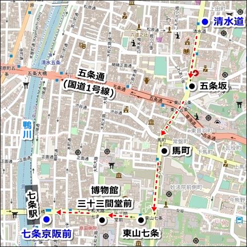 清水寺から伏見稲荷大社へのアクセス(バスと電車)02