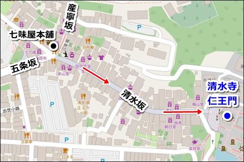 八坂神社から清水寺への徒歩ルート(コース)04