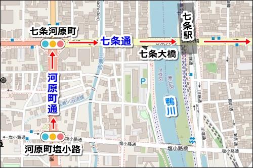 京都駅から清水寺への徒歩でのアクセスルート02