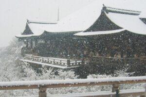 清水の舞台(冬・雪)