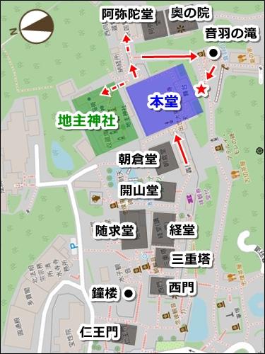 清水寺境内マップ(清水の舞台・足場)
