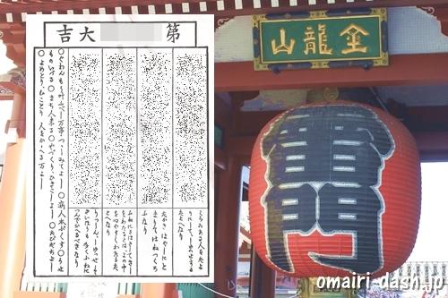 浅草寺(東京都台東区)雷門とおみくじ