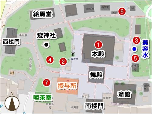 京都八坂神社ご利益マップ