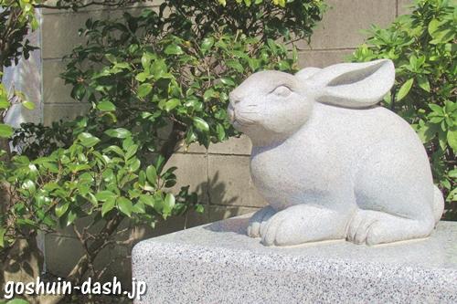少彦名神社(名古屋市中区)福うさぎ像