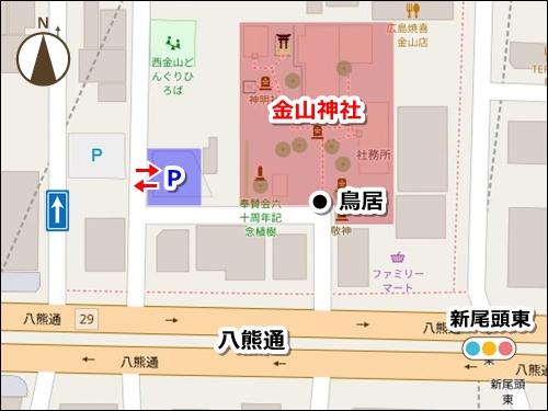 金山神社(名古屋市熱田区)駐車場マップ