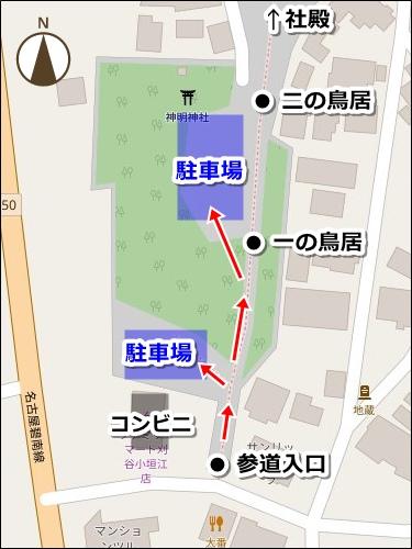 小垣江神明神社(愛知県刈谷市)駐車場マップ