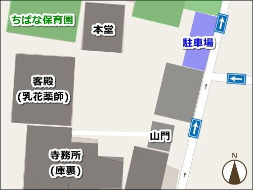 龍王山海上寺(名古屋市瑞穂区)駐車場マップ