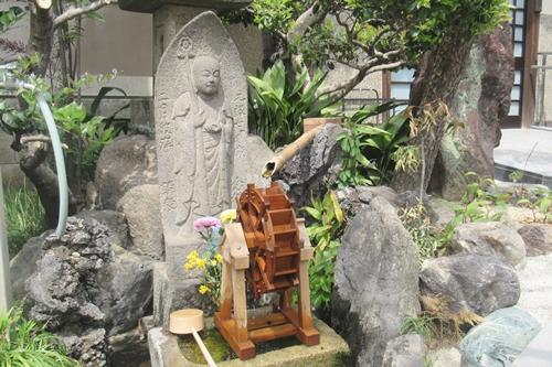 金龍山芳珠寺(名古屋市千種区)地蔵菩薩・水車・手水鉢