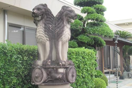 島田地蔵寺(名古屋市天白区)アショカ・ピラー獅子頭
