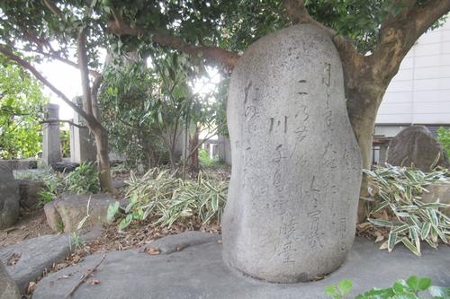 住吉社(名古屋市熱田区)句碑(三吟塚)