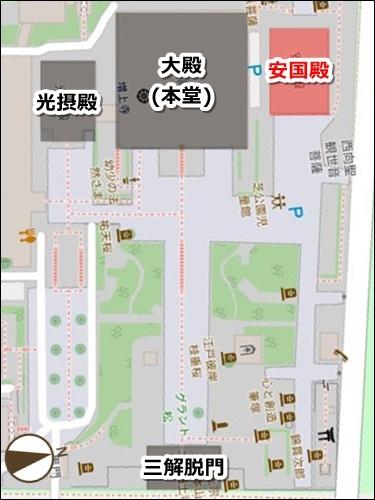 増上寺(東京都港区)お守りマップ