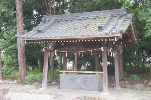 柏井八幡社(愛知県春日井市)手水舎