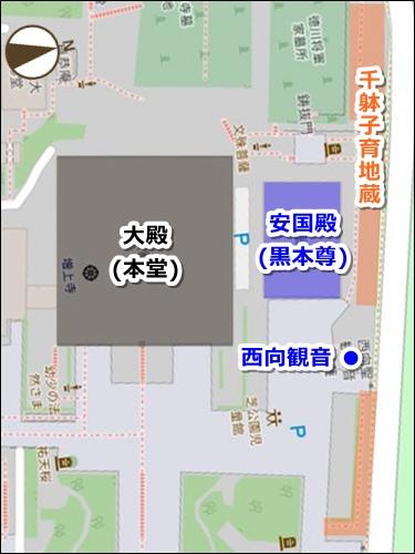 増上寺(東京都港区)ご利益マップ