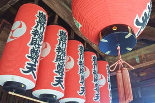 三明寺(豊川市)本堂提灯