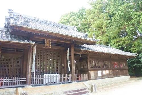 糟目春日神社(愛知県豊田市)神門・廻廊