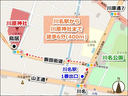 川原神社(名古屋市昭和区)アクセスマップ