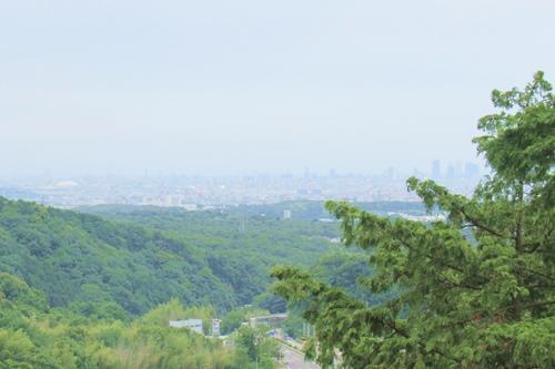 内々神社(愛知県春日井市)奥の院からの眺め