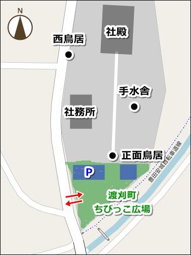糟目春日神社(愛知県豊田市)駐車場マップ