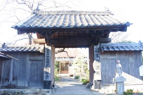 三明寺(豊川市)山門