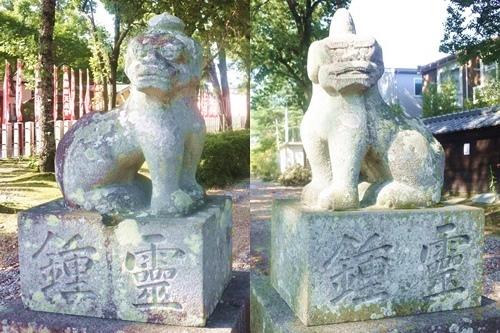 鴨田天満宮(愛知県岡崎市)狛犬