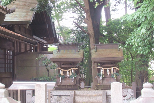 柏井八幡社(愛知県春日井市)境内社(秋葉社・津島社と天神社)