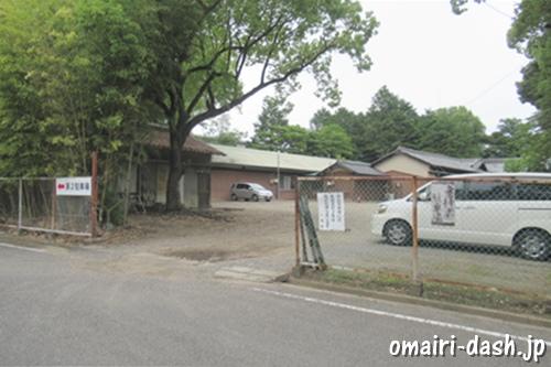 柏井八幡社(愛知県春日井市)参拝者駐車場入口
