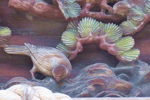 柏井八幡社(愛知県春日井市)拝殿彫刻