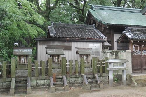 岩塚七所社(名古屋市中村区)末社(石神社・熊野社・白山社)