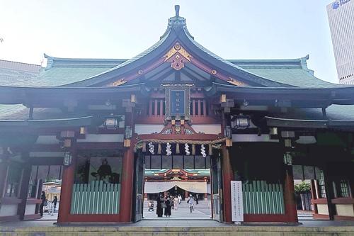 赤坂日枝神社(東京都千代田区)神門