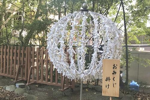 乃木神社(東京都港区)おみくじ掛け