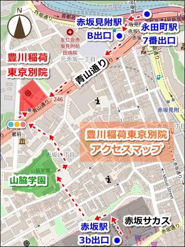 豊川稲荷東京別院(東京都港区)アクセスマップ