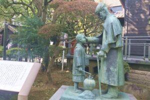 乃木公園(東京都港区)乃木大将と辻占売少年像