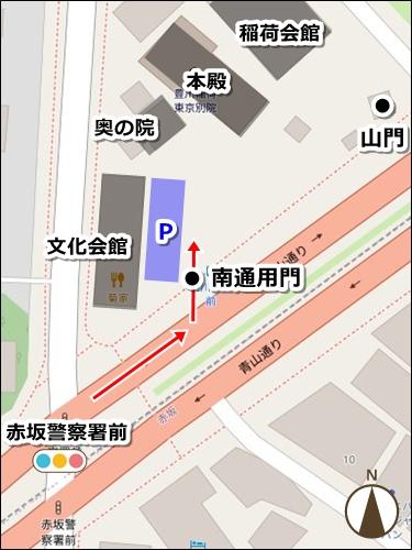 豊川稲荷東京別院(東京都港区)駐車場マップ