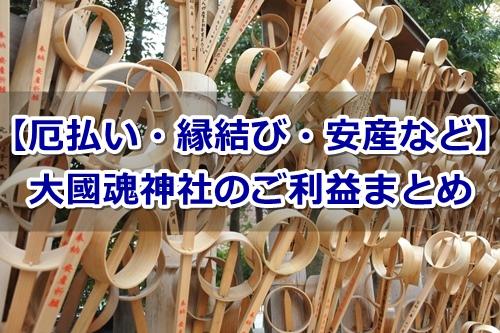 大國魂神社(東京都府中市)のご利益まとめ